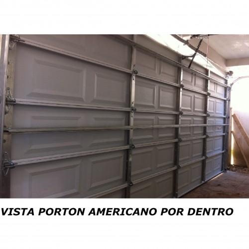Portón Americano una Cara Metálica 2250